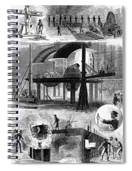 Bessemer Steel, 1876 Spiral Notebook