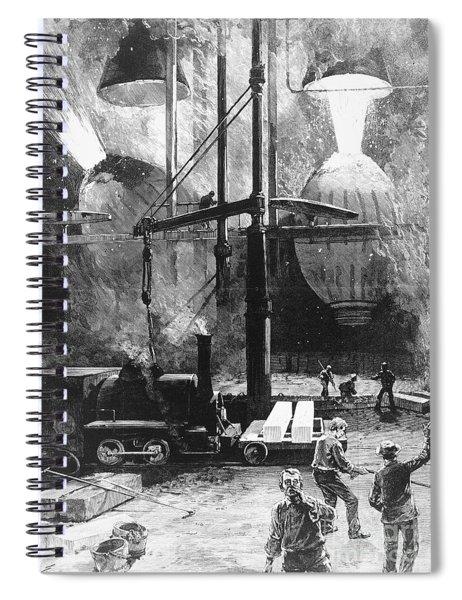 Bessemer Steel, 1886 Spiral Notebook