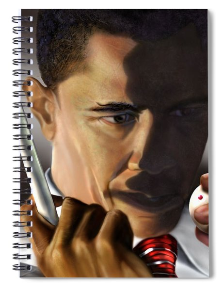 Obama Beyond Shark Waters Spiral Notebook