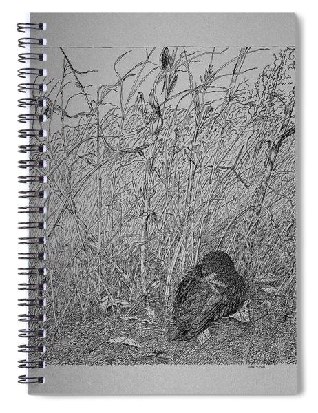 Bird In Winter Spiral Notebook