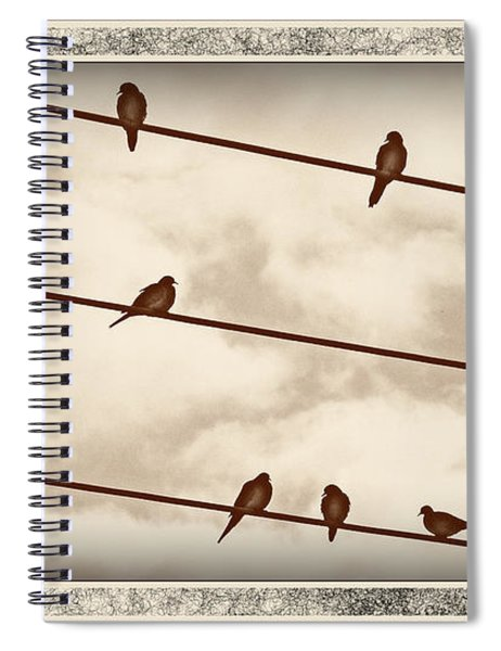 Birds On Wires Spiral Notebook