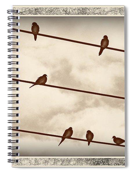 Birds On Wires Spiral Notebook