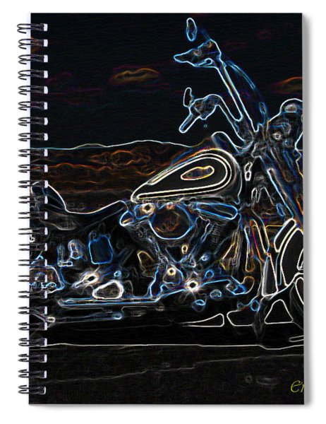 Black And Blue Spiral Notebook