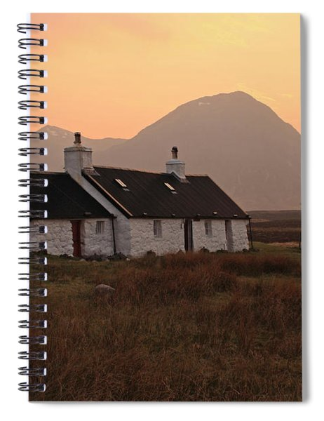 Black Rock Cottage Sunset Spiral Notebook
