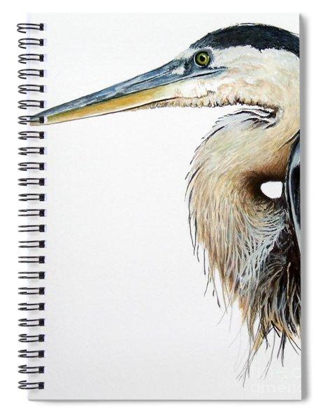 Blue Heron Study Spiral Notebook