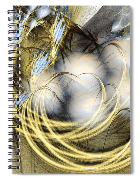 Blue Lullaby - Abstract Art Spiral Notebook