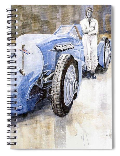Bluebird 1933 Daytona Malkolm Campbell Spiral Notebook