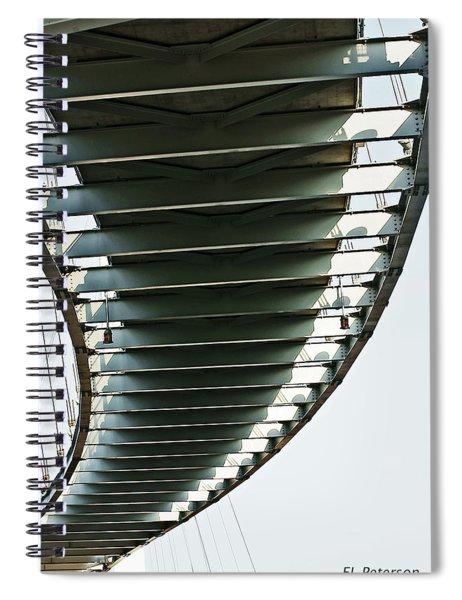 Spiral Notebook featuring the photograph Bob Kerrey Pedestrian Bridge by Edward Peterson