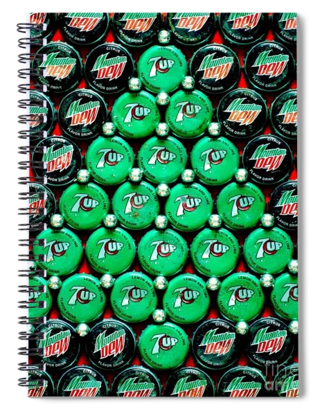 Bottle Caps Christmas Tree Spiral Notebook