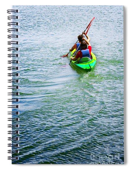 Boys Rowing Spiral Notebook