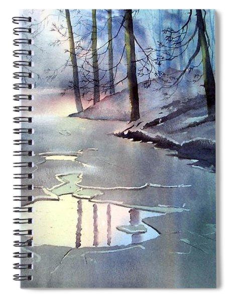Breaking Ice Spiral Notebook