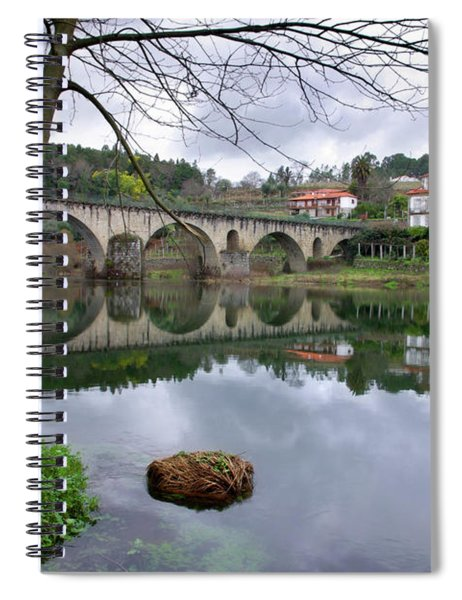 Bridge Over Lima River Spiral Notebook