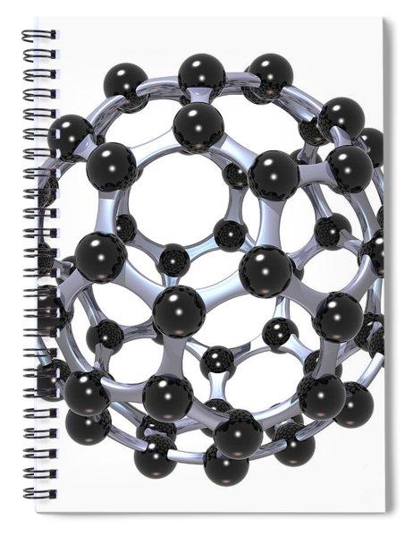 Buckminsterfullerene Or Buckyball C60 18 Spiral Notebook