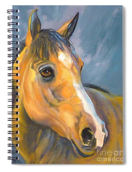 Buckskin Sport Horse Spiral Notebook