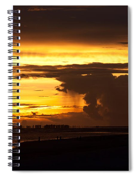 Spiral Notebook featuring the photograph Burning Sky by Ed Gleichman