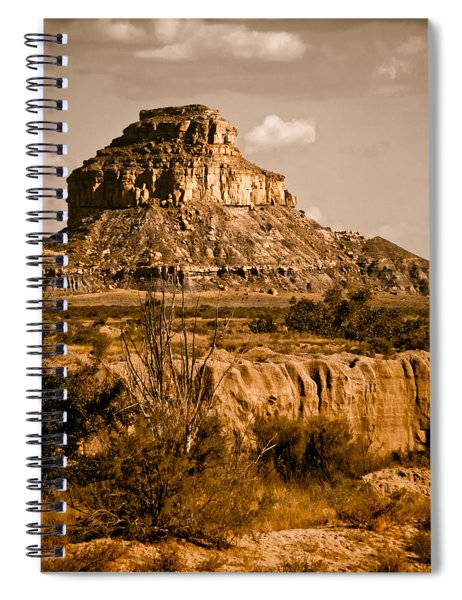 Chaco Canyon, New Mexico - Butte Spiral Notebook