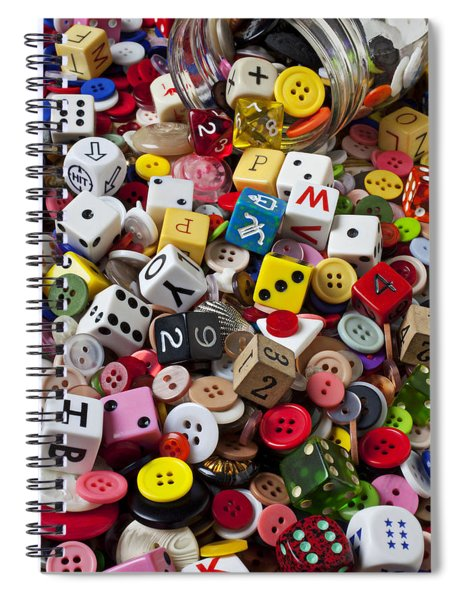 Buttons And Dice Spiral Notebook