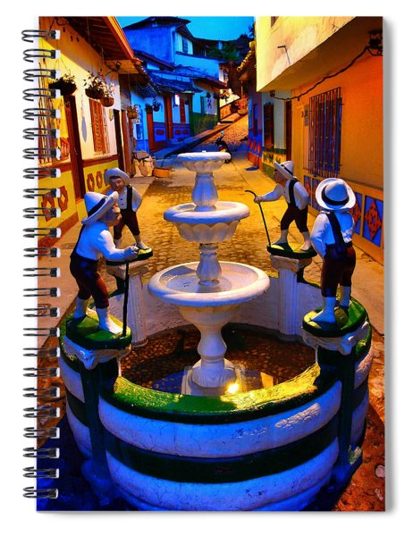Spiral Notebook featuring the photograph Calle Del Recuerdo by Skip Hunt
