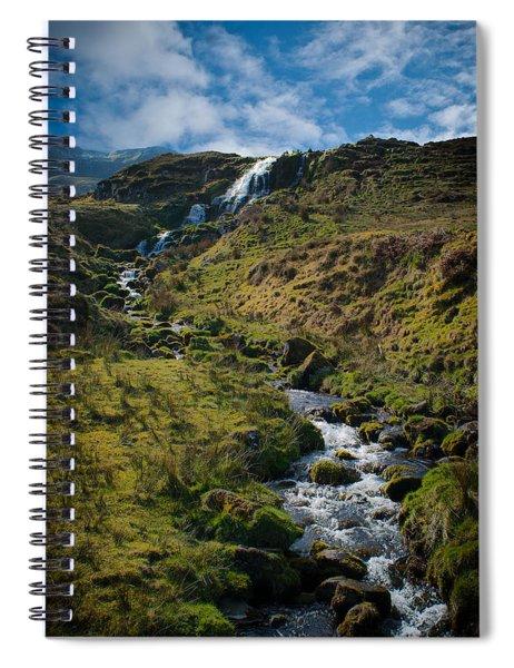 Calmness At The Falls Spiral Notebook