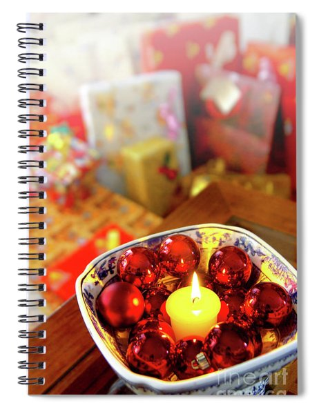 Candle And Balls Spiral Notebook