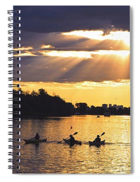 Canoeing Spiral Notebook by Elena Elisseeva