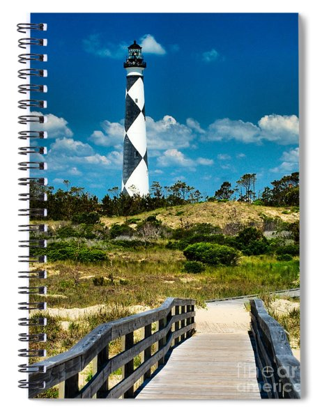 Cape Lookout Light Spiral Notebook
