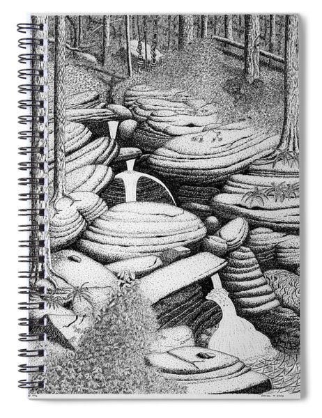 Cascade In Boulders Spiral Notebook