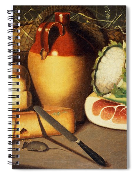 Cat Mouse Bacon And Cheese Spiral Notebook