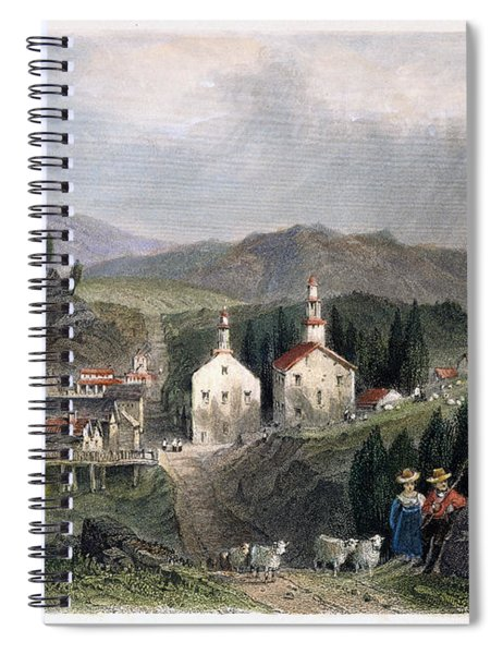 Catskill Village, 1839 Spiral Notebook