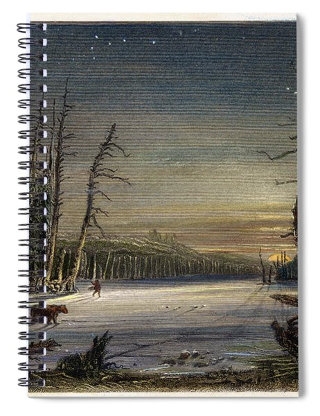Catskill Winter Scene, 1839 Spiral Notebook
