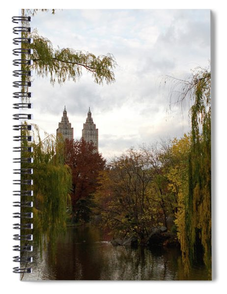 Spiral Notebook featuring the photograph Central Park Autumn by Lorraine Devon Wilke