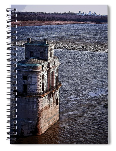 Chain Of Rocks East Water Tower Spiral Notebook