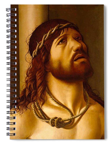 Christ At The Column Spiral Notebook