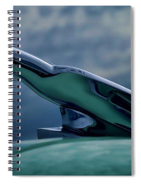 Chrome Eagle Spiral Notebook