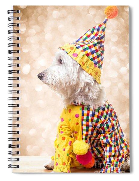 Circus Clown Dog Spiral Notebook