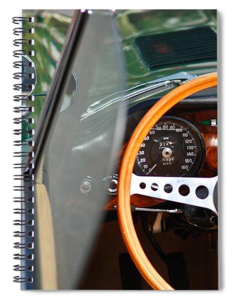 Classic Green Jaguar Artwork Spiral Notebook