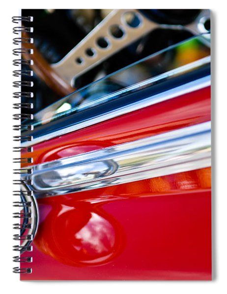 Classic Red Car Artwork Spiral Notebook