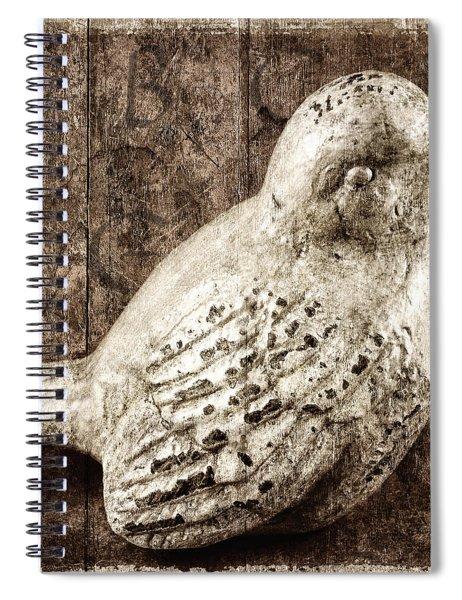 Clay Bird Spiral Notebook