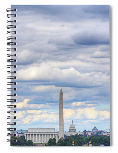 Clouds Over Washington Dc Spiral Notebook
