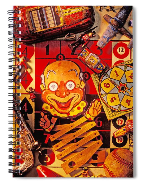 Clown Toy And Old Playthings Spiral Notebook