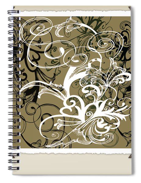 Coffee Flowers 1 Olive Scrapbook Spiral Notebook