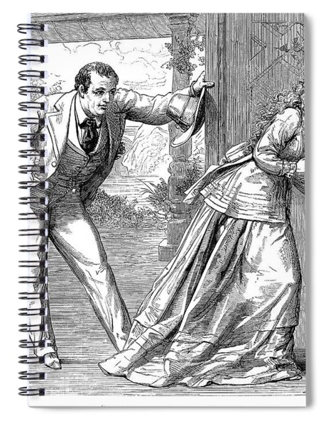 Collins: Woman In White Spiral Notebook