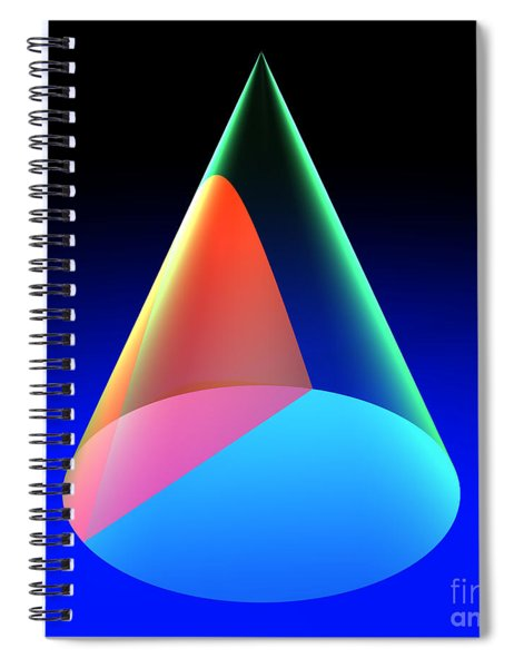 Conic Section Hyperbola 6 Spiral Notebook