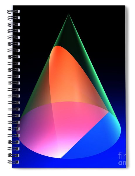 Conic Section Parabola 6 Spiral Notebook
