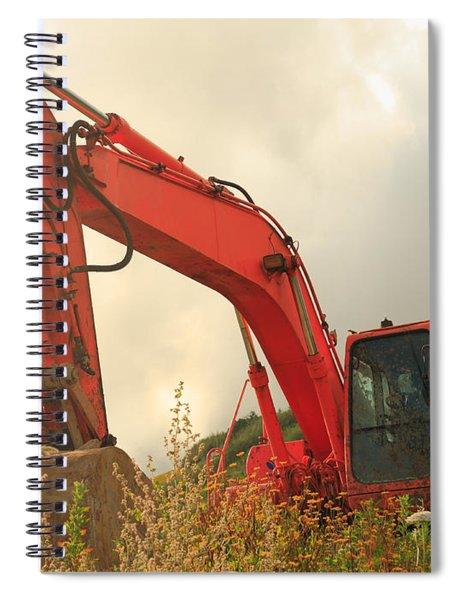 Construction Machinery Spiral Notebook