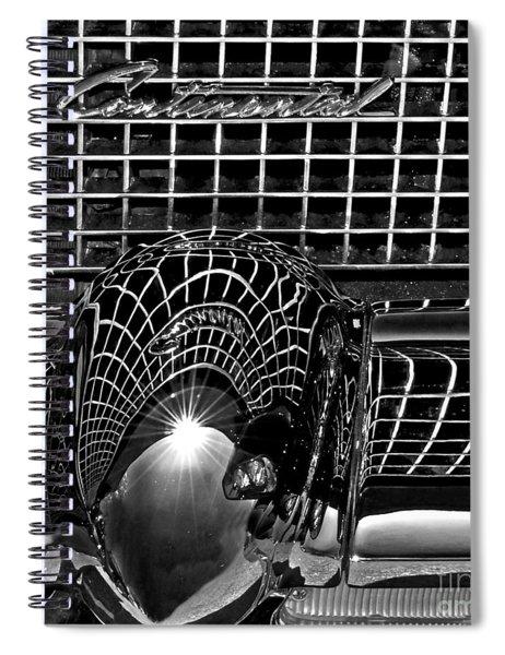 Continental Chrome Spiral Notebook