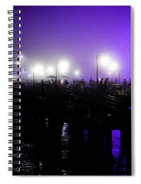 Cool Night At Santa Monica Pier Spiral Notebook