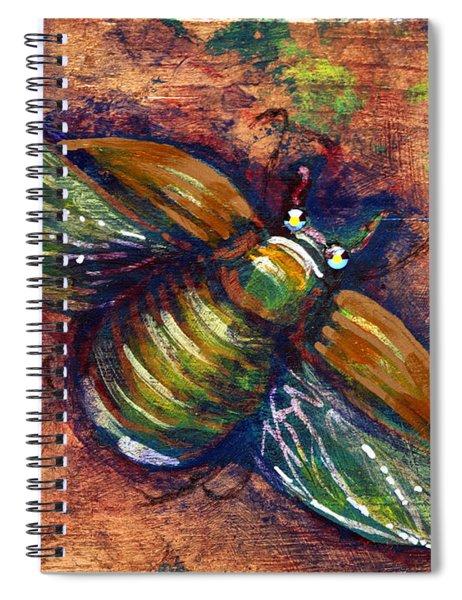 Copper Beetle Spiral Notebook