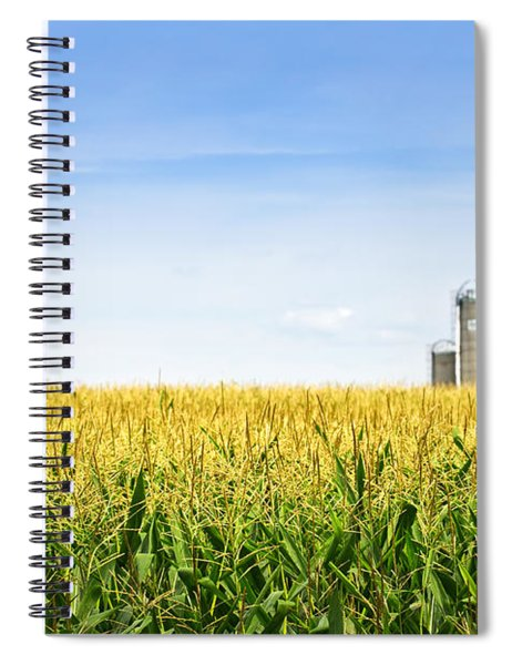 Corn Field With Silos Spiral Notebook