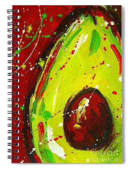 Crazy Avocado 3 - Modern Art Spiral Notebook
